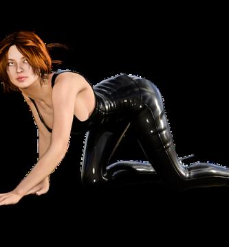 pantalones de cuero mujer